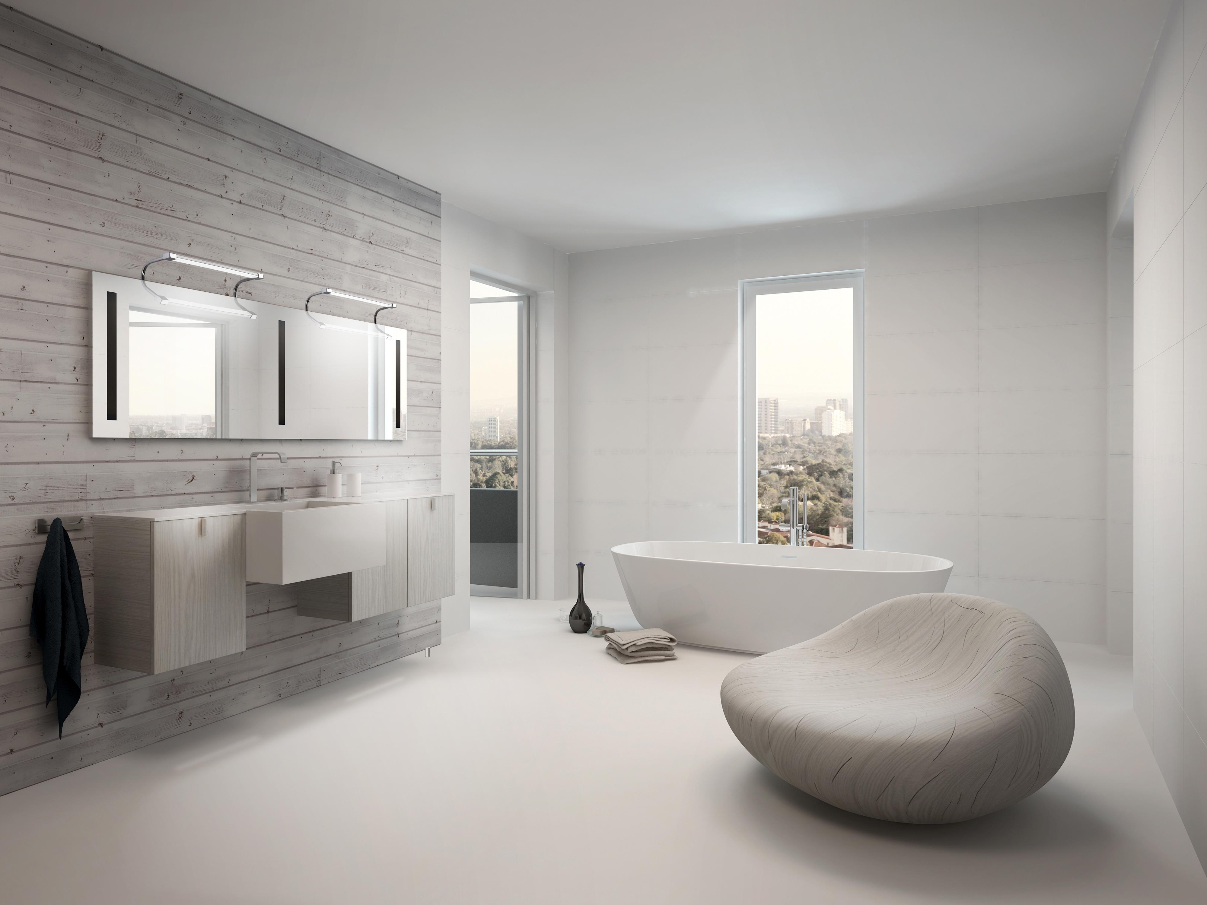 badezimmer led design spiegelleuchte sisley 5086 von mantra. Black Bedroom Furniture Sets. Home Design Ideas